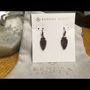Kendra Scott Kate Earrings- Chocolate Drusy